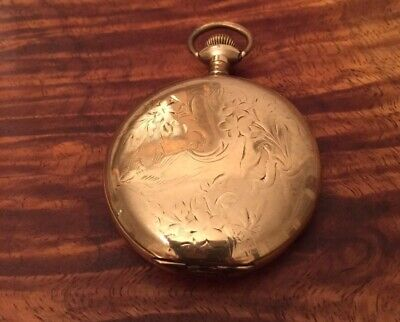 1903 Waltham 17j 14k Gold Filled Pocket Watch Running See All Pics Ships Free