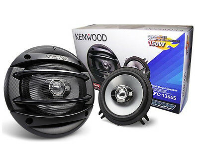 "Kenwood 5 1/4"" 3 Way Car Speakers KFC-1364S New KFC1364S on Rummage"