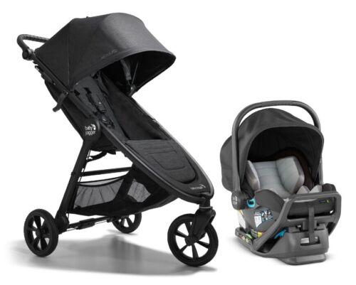 Baby Jogger City Mini GT2 Travel System Stroller w City Go Infant Car Seat Black