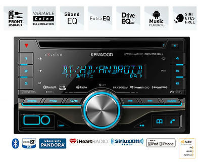 Kenwood eXcelon CD Receiver w/ Built in Bluetooth and HD Radio DPX791BH B