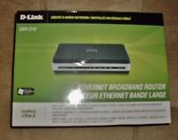 D-Link Ethernet Broadband Router - 4 Port - NEW in Box