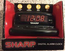 SHARP LED ELECTRIC DIGITAL ALARM CLOCK SNOOZE BATTERY BACKUP FREE PRIORITY SHIP