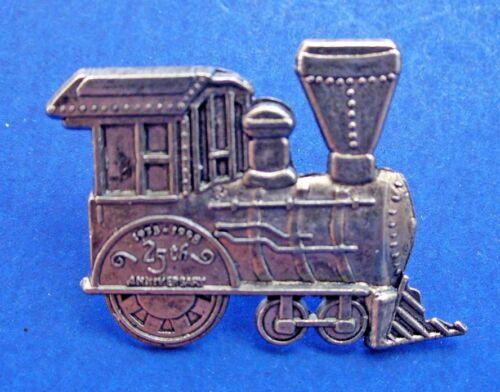 Hallmark PIN Christmas Vintage PEWTER TRAIN Locomotive Holiday Brooch #3 NEW