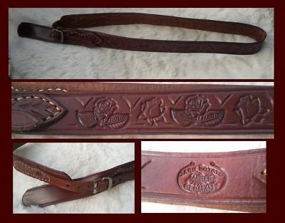 schönes Leder  Cowboy Hutband gepunzt