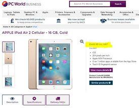 Apple iPad Air 2 with 4G (A8X 1 GHz, 2 GB RAM, iOS8) (Brand New & Sealed)