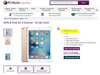 Apple iPad Air 2 64GB BRAND NEW & SEALED