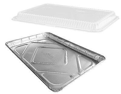 Handi-foil Half 12 Size Sheet Cake Aluminum Foil Pan Wclear Low Dome Lid 10pk