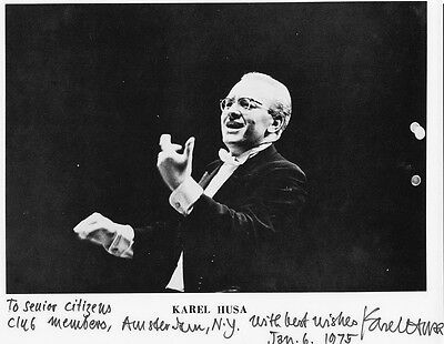 Composer & Conductor KAREL HUSA Signed Photo