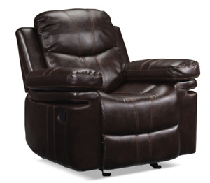 Barcelona II Recliner Dark Brown Leather fabric - Good condition