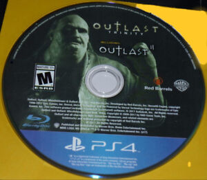 MINT USED COPY OF OUTLAST 2 PS4 (DISC ONLY...NO CASE)