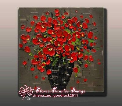Used, P1367 Hand made Abstract Floral Oil Painting on canvas wall art decor /NO Frame for sale  Shipping to Canada