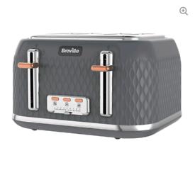 BREVILLE Curve 4-Slice Toaster - Granite Grey