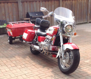 Honda Valkyrie Motorcycle and trailer