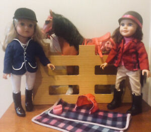 "Two Journey Girls 18"" Dolls with Our Generation Horse"