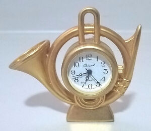 French Horn Miniature Desk Clock