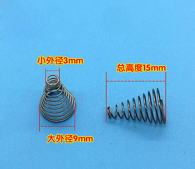 3 Mm Spring - Tapered Coil Spring 0.4 Wire Diameter 3mm Small OD 9mm Big OD Batteries Spring