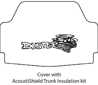 Plymouth Rubber - 1970 1976 Plymouth Duster Trunk Rubber Floor Mat Cover with MB-060 Duster