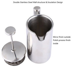Stainless steel 800ml (3 cups) brand new French press