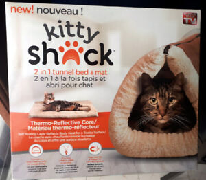 Kitty Shack – 2 en 1 Tapis et lit pour chat