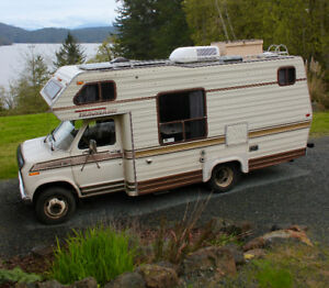 1984 Ford E350 Class C Camper, 22ft,with new safety inspection
