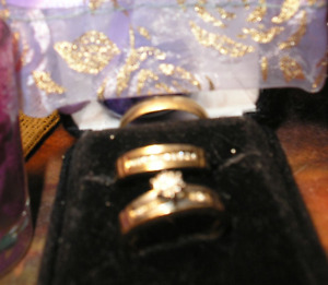 wedding ring set plus man rings also