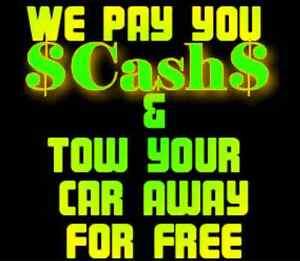 $ SCRAP JUNK OLD BROKEN CAR TRUCK SUV REMOVAL PICK UP CASH PAID