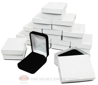 12 Piece Black Velvet Necklace Earrings Jewelry Gift Boxes 2 14 X 3 X 1 14h
