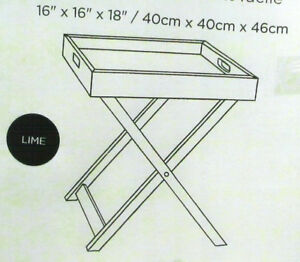 Wood Tray on Stand x2