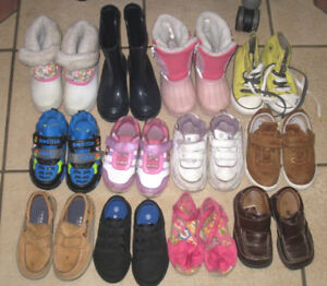 12 New and used Toddler Shoes/Boots size 7-8
