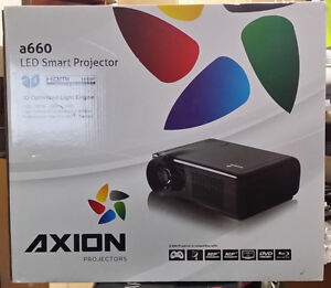 "Projector HDMI 3D with 72"" screen"