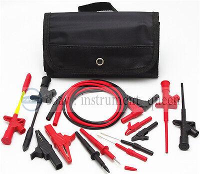 4mm Banana Plug Electronic Test Lead Kit Use For Fluke Uni-t Multimeter Meter