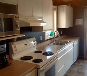 Kitchen for Sale - fridge, stove, cupboards, counters and sink
