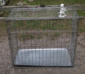 Dog Cage Wire Folding With Tray 36''Lx20''Wx29''H  ONLY $30.00