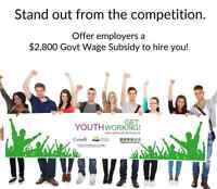 Get Youth Working This Holiday Season!