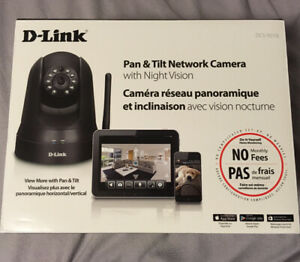 D-Link Pan & Tilt Network Security Camera with Night Vision