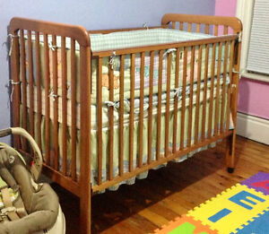 Dropside Crib, mattress and crib set