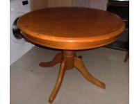 Round Pedestal Pine Table - 1m Diameter