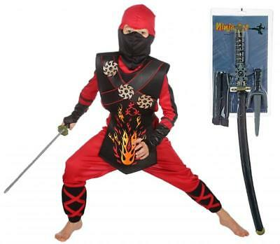 Ninja Kostüm Ninjakostüm Dragon Schwert American Samurai Krieger Kämpfer - Ninja Männliche Kostüm