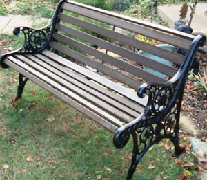 Iso cast iron bench