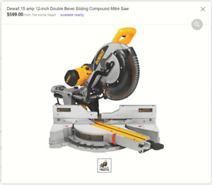 DEWALT sliding 12 in dual bevel miter saw