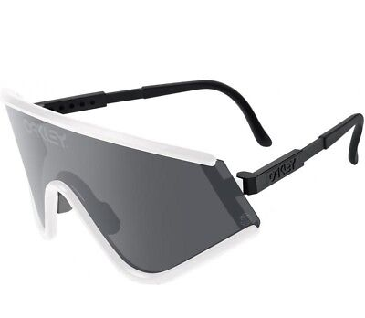 NEW OAKLEY Special Heritage Edition EYESHADE White / Grey Lens, (Oakley Eyeshade Lenses)