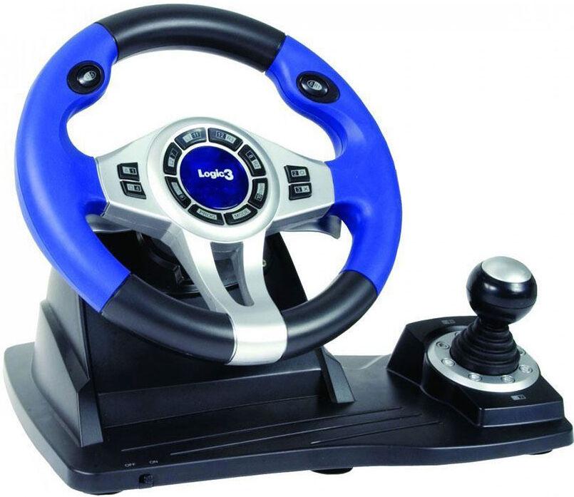top 10 steering wheels for pc ebay. Black Bedroom Furniture Sets. Home Design Ideas