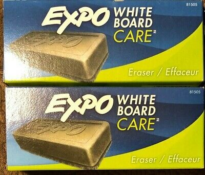 2 Packages Expo White Board Care Eraser 1 Count Each New