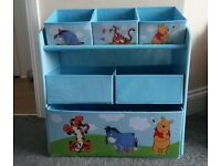 Winnie the Pooh Kids Toy Storage Unit - Like New