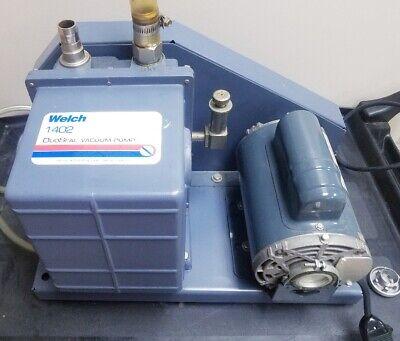 Welch Duo-seal 1402 Vacuum Pump Rotary Vane Laboratory Industrial Working