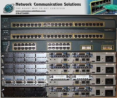 Cisco CCNP CCIE LAB 2621xm  2x 2620xm 2621 2x 2950 3550 Video Trainings