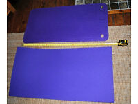 Yoga / gym / exercise mats, set of 17, with strong carry bag