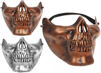 Halloween Masquerade Party Airsoft Skull Mask Novelty Motorcycle Half Face Masks (Halloween Masks Masquerade)