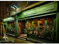 Koh Thai Tapas Bristol are looking for a Trainee Assistant Manager!!