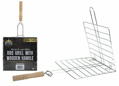 BBQ Grill Tray Net Grid Basket Outdoor Cooking Roast Tool Grilling Meat Fish